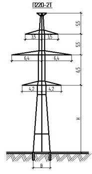 Промежуточные опоры ЛЭП для ВЛ 220 и 330 кВ