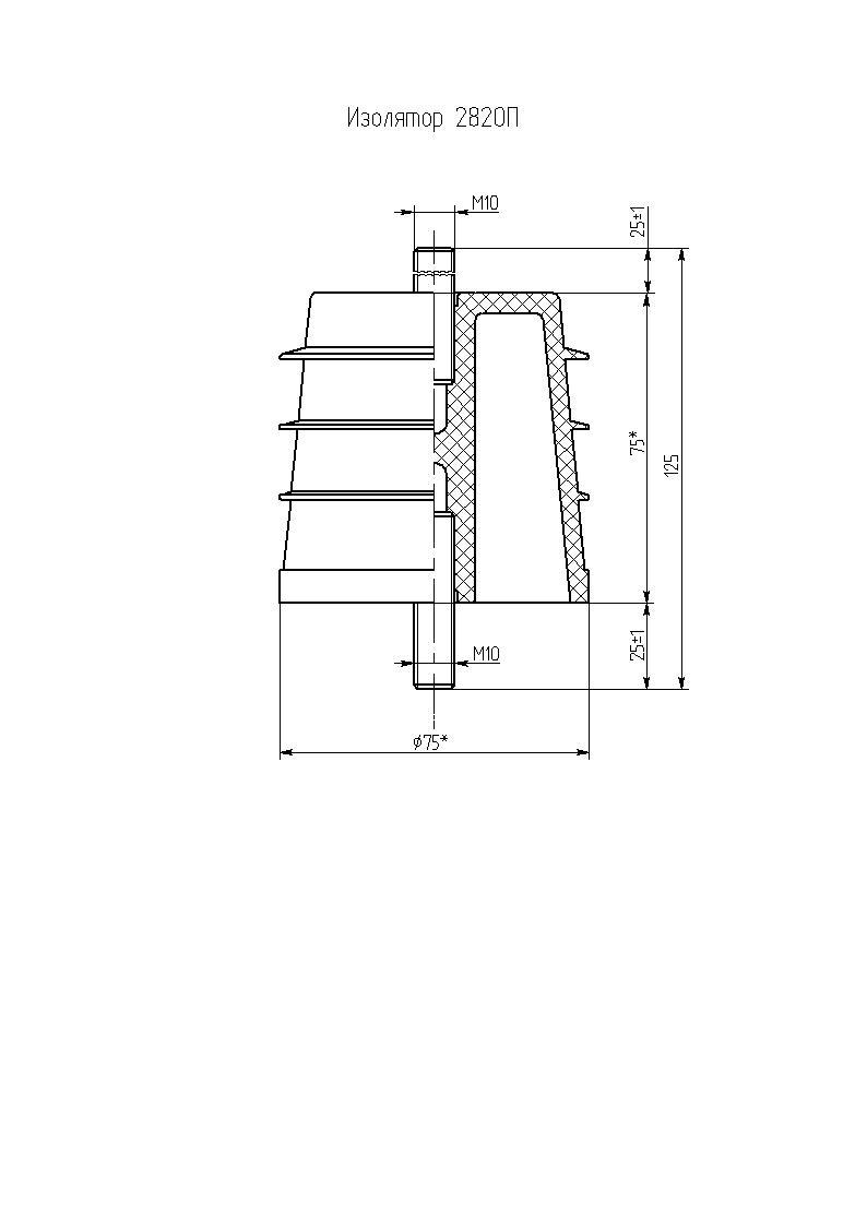 Изоляторы опорные ребристые полимерные низковольтные